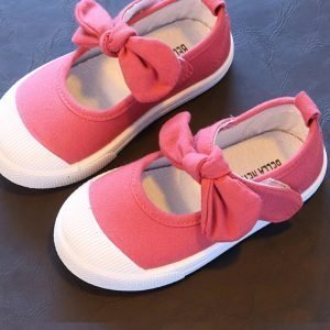 Spring Summer Girl Casual Shoes With Bow