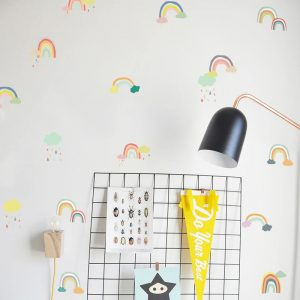 Coloured Wall Stickers Rainbow Nordic Style - Nursery Decor