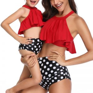 Mother & Daughter Matching Bikini – Vintage