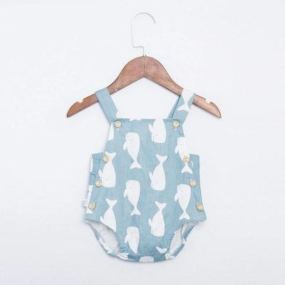 Nordic Style Baby and Toddlers Unisex Animal Print Rompers