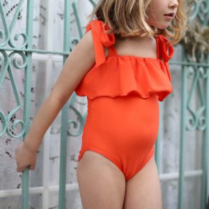 Red Ruffles Swimwear - Girl