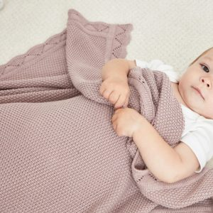 Newborn Knitted Blankets -100% Cotton
