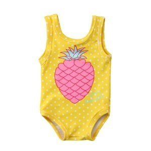 Yellow Pineapple Girls Swimwear