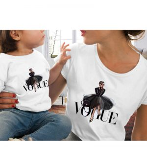 Family Look Vogue Princess Print T shirt - Mother and Daughter Outfits