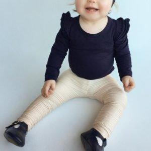 Autumn Baby Girl Tops - Ruffled Shoulders