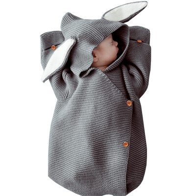 Baby Rabbit Knitted Envelope