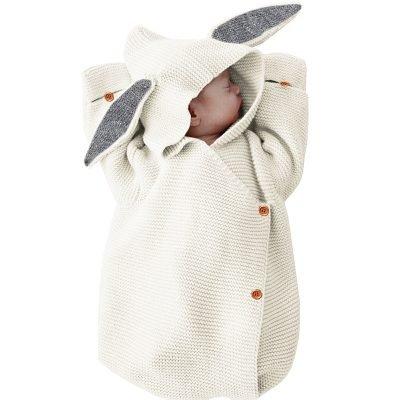Baby Rabbit Knitted Envelope