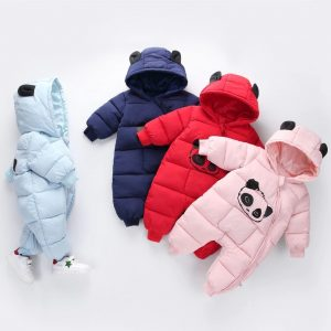 Winter Hooded Overall - Panda