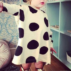 Autumn Casual Dress - Polka Dots