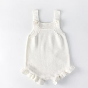 Baby and Toddler Knitted Romper - Ruffles