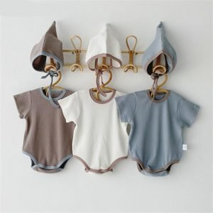 Baby Cotton Rompers - Short Sleeve