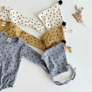 Baby Romper - Long Sleeve with dots