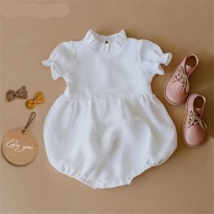 Linen Cotton Baby Rompers - Spring Summer