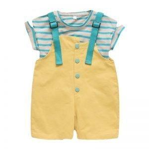 Clothing Sets - Striped Short Sleeve T-Shirt + Pants