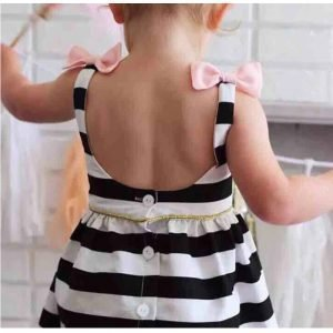 Black and White Striped Dress Baby