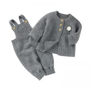 Knitted Set for Babies - Overall and Cardigan