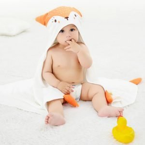 Baby Bath Towel Cartoon Animal Hooded - 100% Cotton